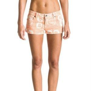 NWT Roxy shorts jean denim orange low waist